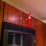 This elf is ready to raid the cabinets