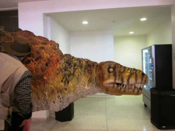 A hungry dinosaur at the New Jersey State Museum. Photo credit Jersey Family Fun