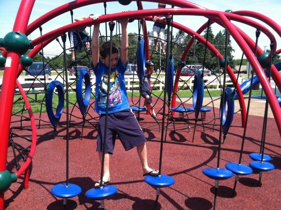 Imagination Kingdom in Pemberton has so many ways for kids to climb and explore.