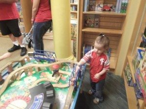 Barnes & Noble Train Table