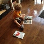 My 4 year old is just starting to build a love for comics. At South Philly Comics. |Photo Credit Jersey Family Fun