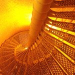 The staircase at the Barnegat Lighthouse. Can you climb these 217 steps?