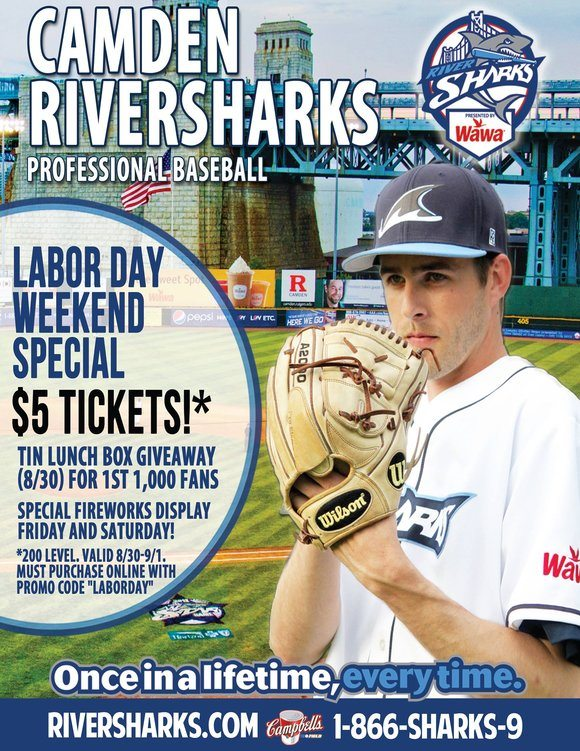 Camden Riversharks Labor Day Weekend Special