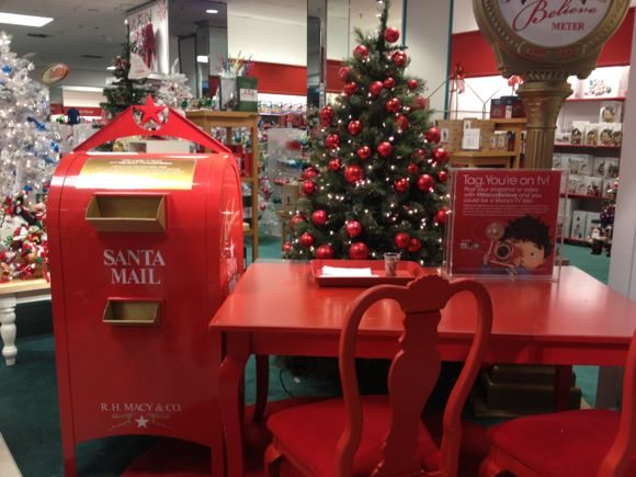 Macy's Make a Wish Foundation Believe Campaign Check your local Macy's to see where you can find the special letter box to send your child's letter to Santa!