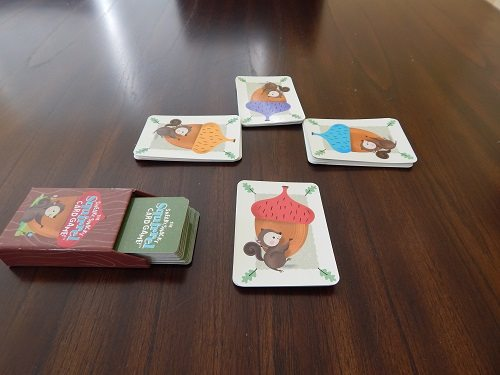 Sneaky, Snacky Squirrel Card Game set up to play.