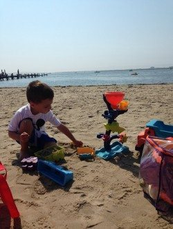 Municipal beach in Somers Point