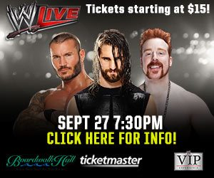 Win Tickets to WWE Live! at Atlantic City's Boardwalk Hall