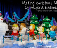 Frosty comes to life at ICE! | Photo Courtesy Gaylord National Wording added by Jersey Family Fun