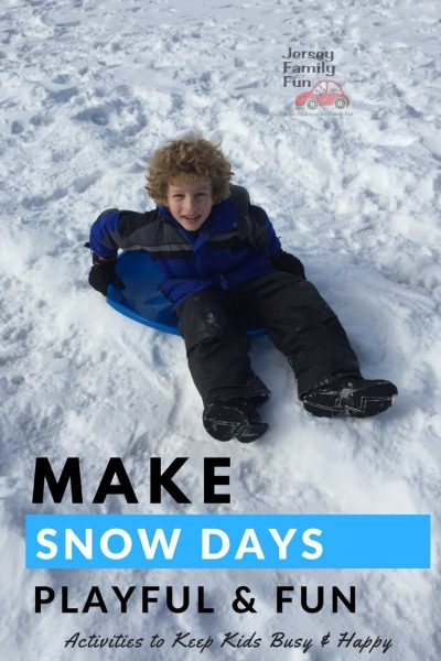 snow day activities Pinterest image