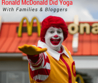 Ronald McDonald Yoga event