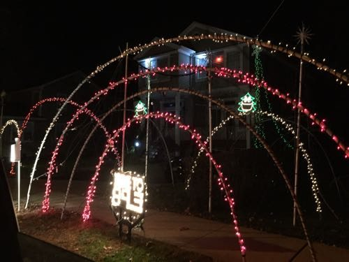 """Lights blink to the music and the Christmas trees """"sing"""" Holiday Displays & Lights in New Jersey"""