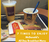McDonald's All Day Breakfast Menu