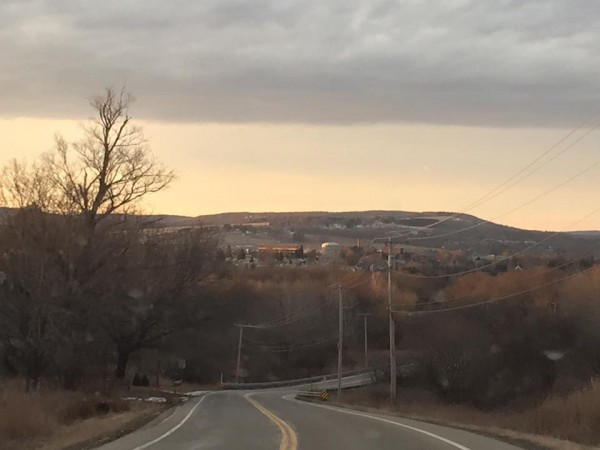 Rolling hills and the town in the distance!