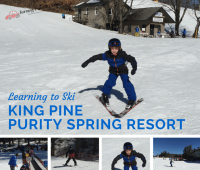 Learning to Ski King Pine Purity Spring Resort
