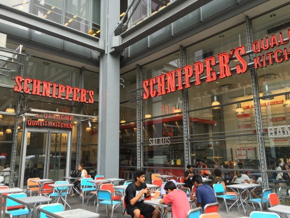 On a nice night or sunny day, Schnipper's Quality Kitchen has al fresco dining!