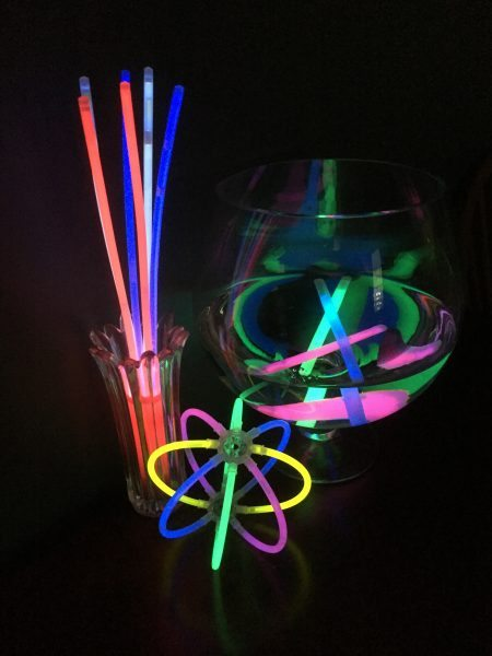 Glow in the Dark Birthday party centerpieces