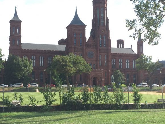 Smithsonian Visitor Center & Castle family vacation to Washington DC