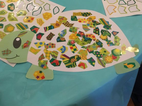 Design Your Own Giant Mosaic Turtle-Shaped Sticker Scenes