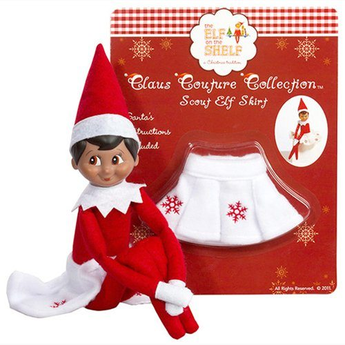 Elf on the Shelf Outfits The Elf on the Shelf The Claus Couture Elf Snowflake Skirt