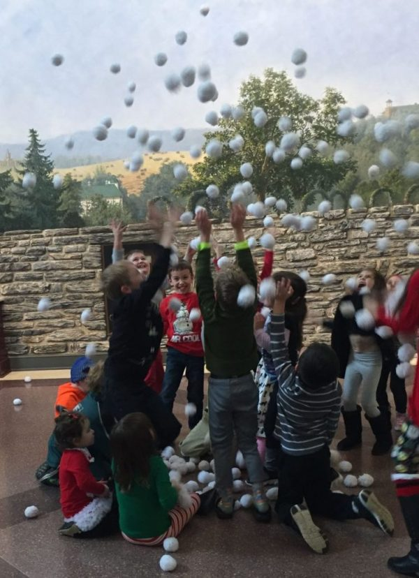Hersey Story Museum snowball fight
