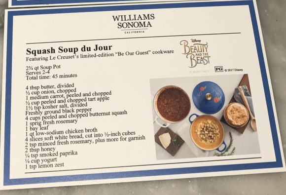 Williams Sonoma Squash Soup du Jour recipe