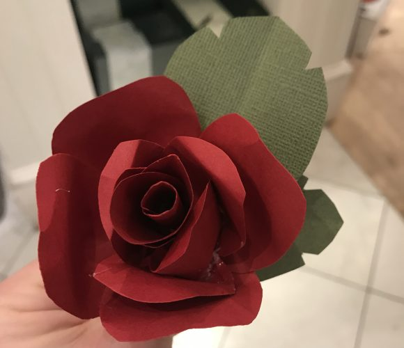 Beauty and the Beast craft Paper roses