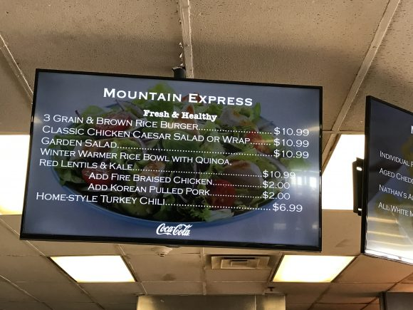 Windham Mountain Restaurants Windham Mountain Resort Mountain Express Cafeteria Menu Board