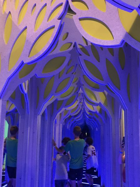Franklin Institute Mirror Maze exhibit