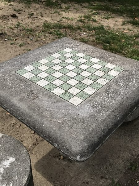 checkers table at Dudley Grange Park in Camden New Jersey Camden County Parks & Playgrounds