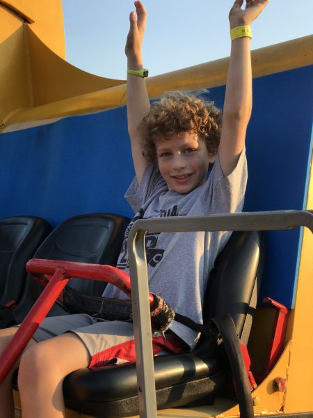 Spin DIzzy ride during Diggerland Camp Out Camp Out & Dig In in Berlin New Jersey