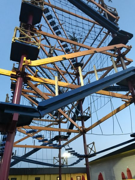 Ropes Course at Diggerland USA in Berlin New Jersey