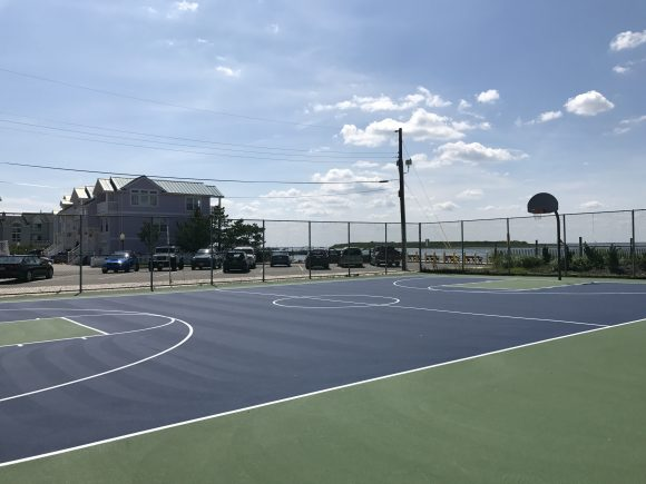 Basketball court at William L. Butler Park ~ Beach Haven Playground in Beach Haven New Jersey Ocean County Parks & Playgrounds