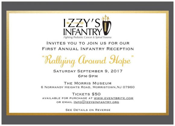 Izzy's Infantry Fighting Pediatric Cancer and Spinal Trauma fundraising reception