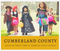 Cumberland County Trick or Trick or Treat Times