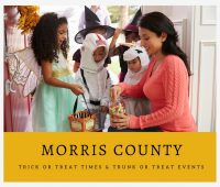 Morris County Trick or Trick or Treat Times