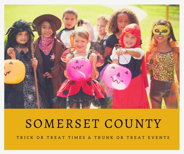 Somerset County Trick or Treat Times