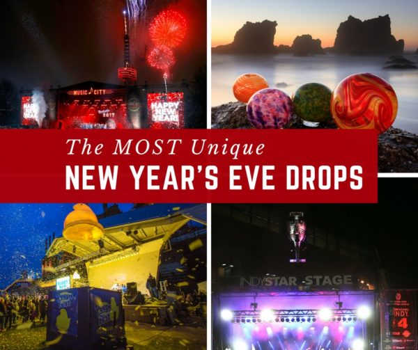 The MOST Unique New Year's Eve Drops Around the United States