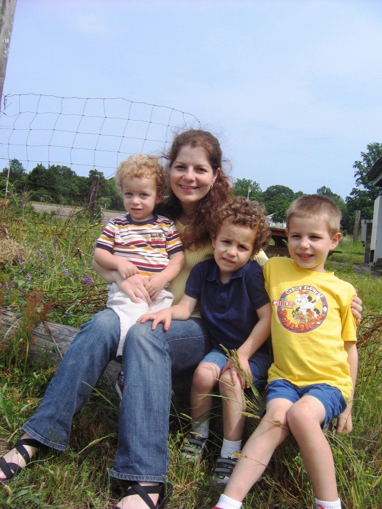Family picture at Strawberry field in New Jersey Photo credit Jersey Family Fun