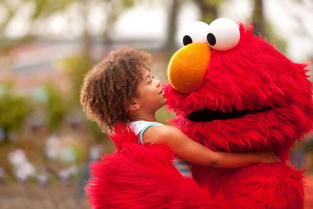 Elmo at Sesame Place in Langhorne PA