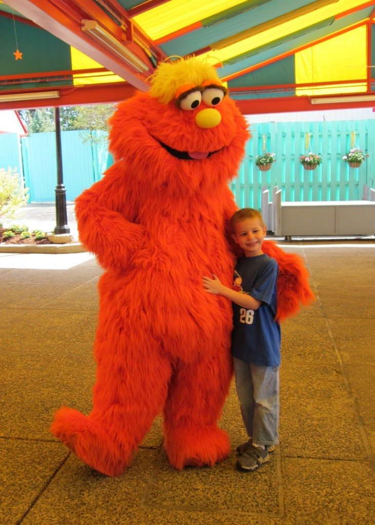 N with Tellie at Sesame Place Opening Day April 30 2011