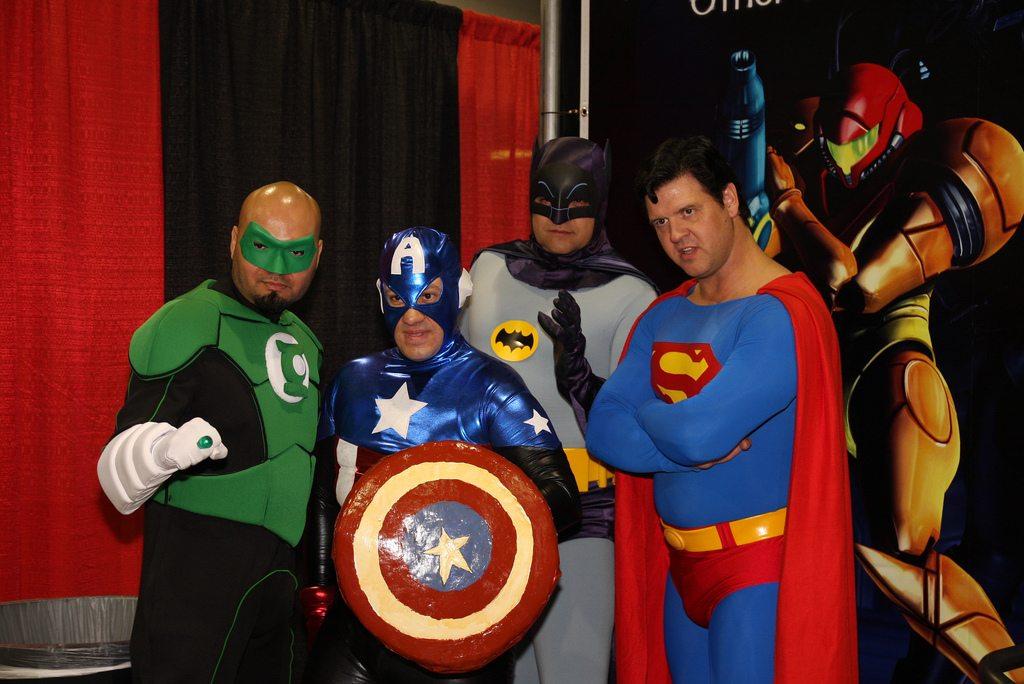 wizard world superheroes at Philadelphia Comic Con