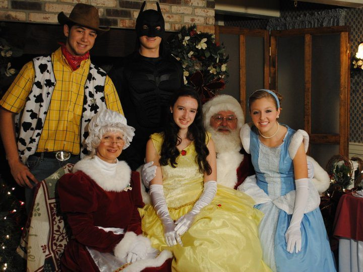 santa breakfast with Fairytale Entertainment Characters