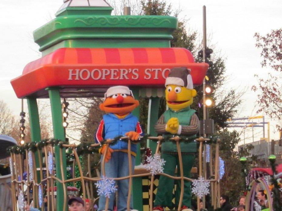 Neighborhood Street Parade Ernie and Bert at Sesame Place in Langhorne PA