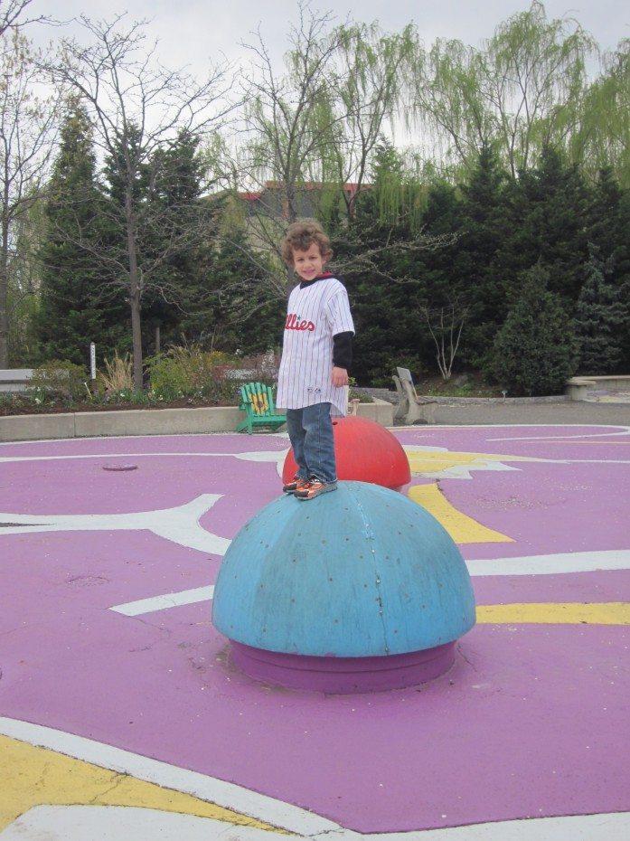 The Camden Children's Garden also offers a sprayground during the summer.
