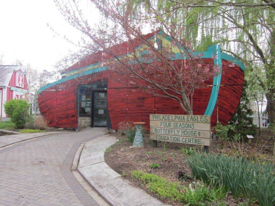 Find butterflies in Noah's ark in the Camden Children's Garden