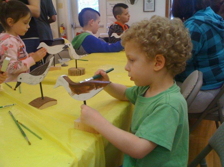 painting flatties at Tuckerton Seaport Museum