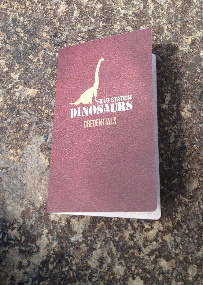 Field Station Dinosaurs passport and credentials