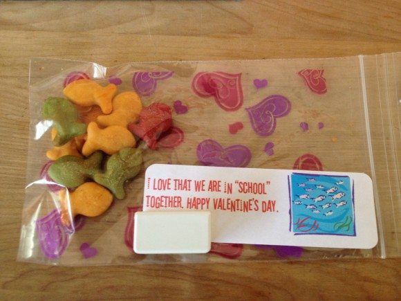 Valentine's Day Card Goldfish