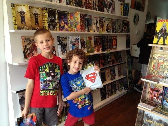 They made their selections at South Philly Comics, FREE Comic Book Day |Photo Credit Jersey Family Fun