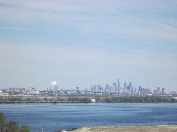 Philadelphia Skyline from Tinicum Lighthouse